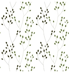 Green romantic weeds vector