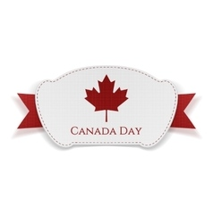 Canada day realistic banner with ribbon vector