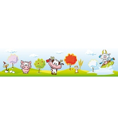 Animal farm banner vector