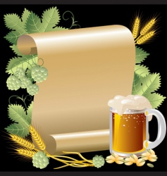 Beer and roll vector