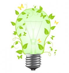 bulb with plant vector image vector image