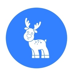 Deer black icon for web and mobile vector image vector image