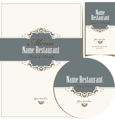 design elements for restaurant vector image vector image