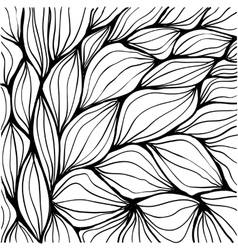 Doodle abstract ripples Seamless pattern vector image vector image