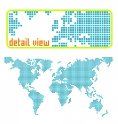 dotted world vector image