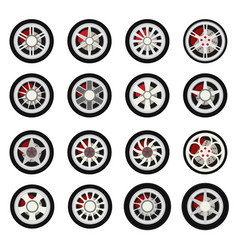 flat wheels car vector image
