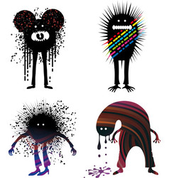 Four strange people vector image vector image