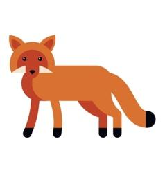 Fox flat icon vector