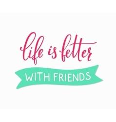 Friendship love lettering vector