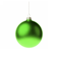 Green 3d christmas bauble vector