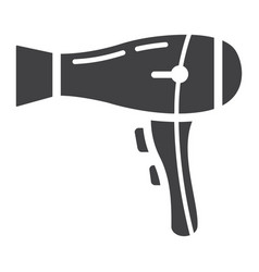 Hair dryer solid icon household and appliance vector