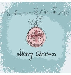 hand drawn christmas ball vector image