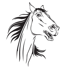 Horse neighs vector