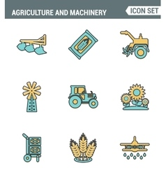 Icons line set premium quality of agriculture and vector
