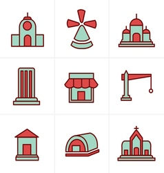 Icons Style Icons Style Set of house icons vector image vector image
