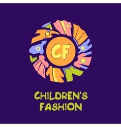 logo for child fashion Template for vector image vector image