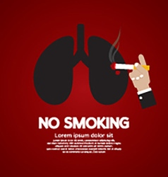 No Smoking Concept vector image