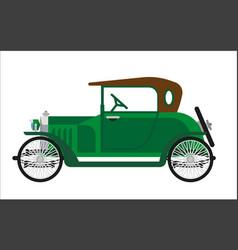 Old car or vintage retro collector green auto vector