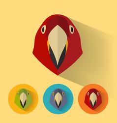 parrot portrait with flat design vector image vector image