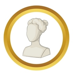 Sculpture head of woman icon vector