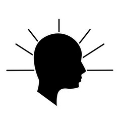 Silhouette human head man vector