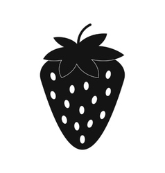 Strawberry simple icon vector image vector image
