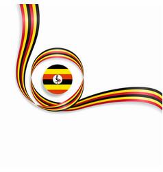 Ugandan wavy flag background vector