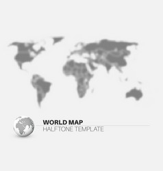 World map with halftone effect vector