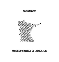 Label with map of minnesota vector