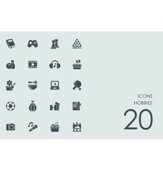 Set of hobbies icons vector
