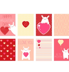 Collection of valentines day vector
