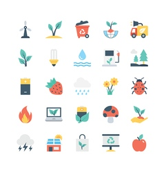 Nature and Ecology Icons 4 vector image