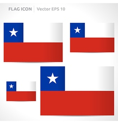 Chile flag template vector