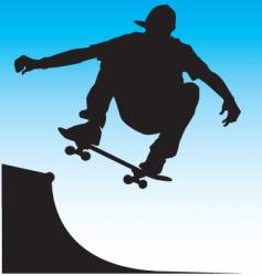 Skater front side air vector