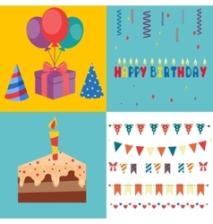 Birthday party elements - vector