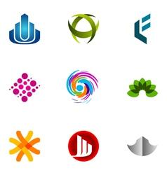 Logo design elements set 52 vector