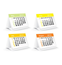 May to august calendars vector