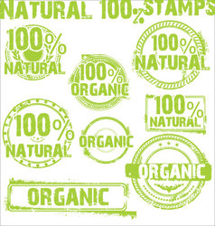 Natural - grunge stamps vector