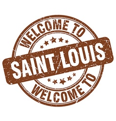 Welcome to saint louis vector