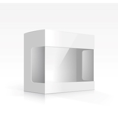 Blank Box with Transparent Window vector image