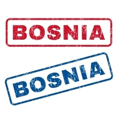 Bosnia rubber stamps vector