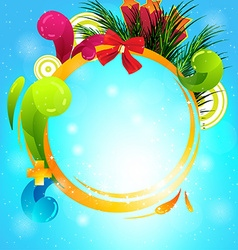 Bright christmas bacground vector