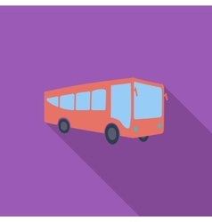 Bus flat icon vector image vector image