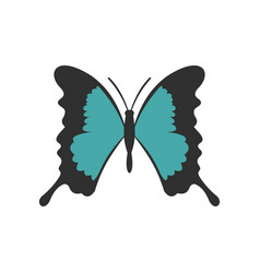 Butterfly with long wings icon flat style vector
