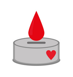 Campaing donation blood drop vector