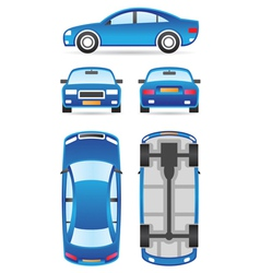 Car in different views vector image vector image