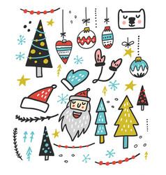 christmas toys design vector image