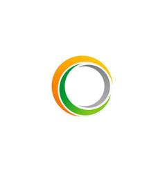 circle abstract colored logo vector image
