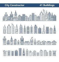 City builder vector image vector image