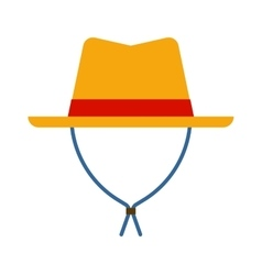 Cowboy sheriff leather hat vector image